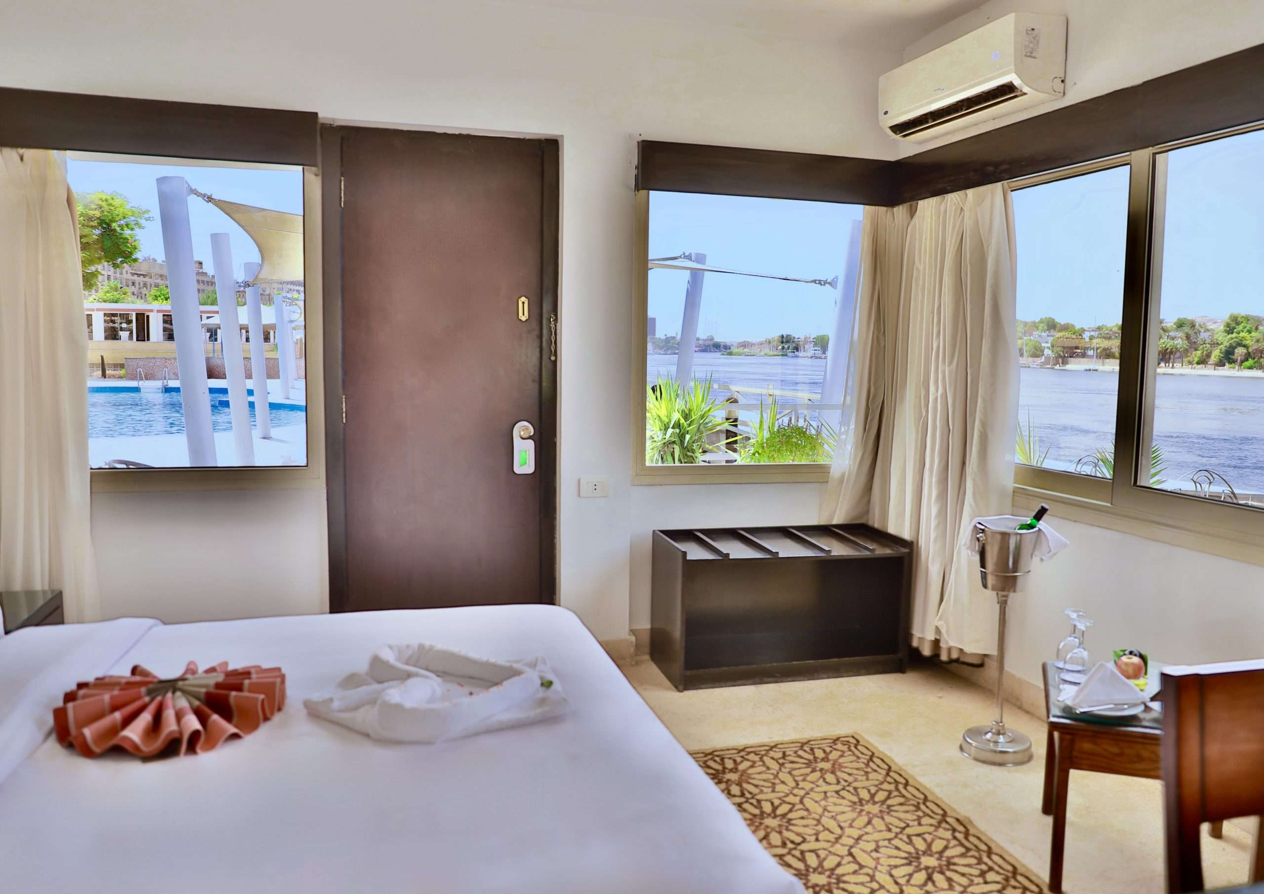 The Panoramic Nile Front Room at Obelisk Hotels