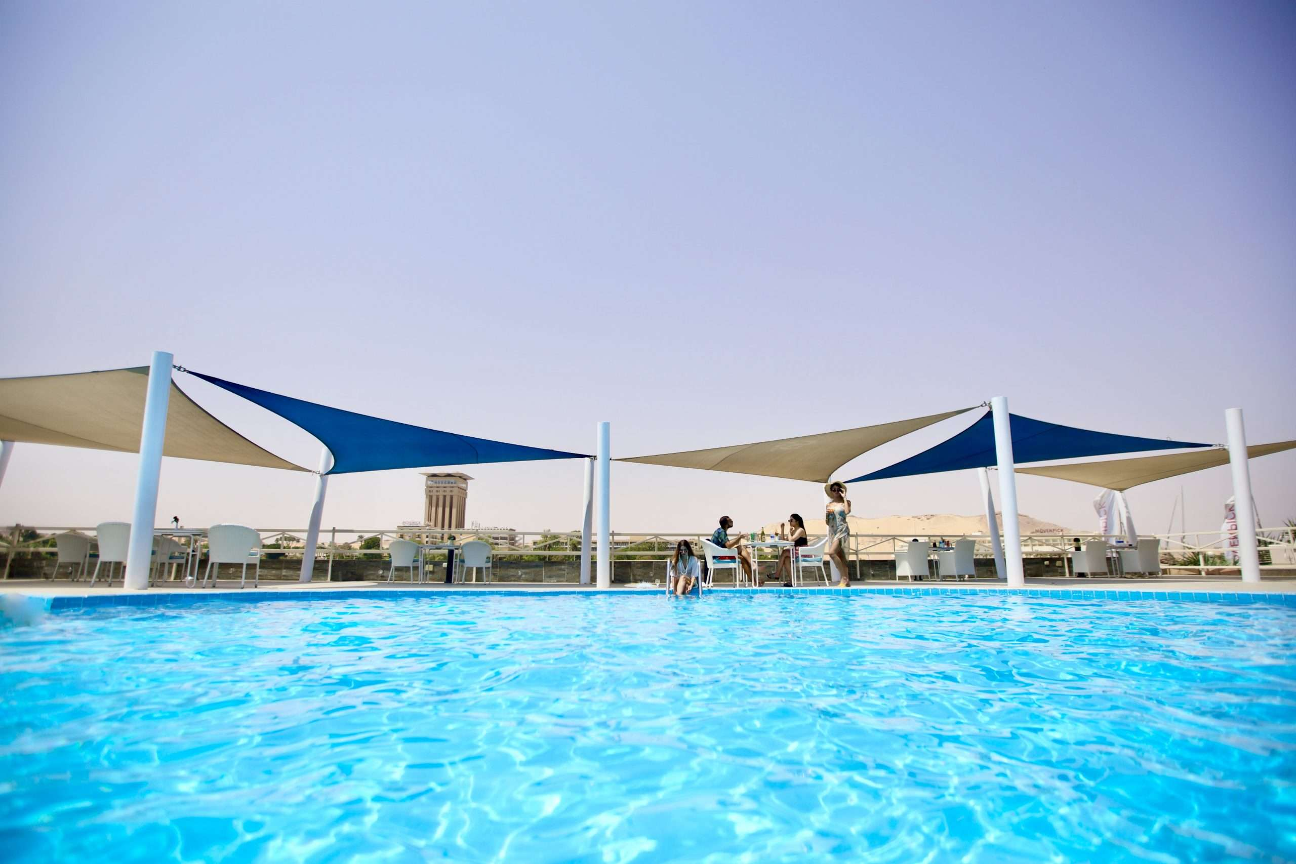 The Pool Over looking the Nile at Obelisk Nile View Hotel in Aswan