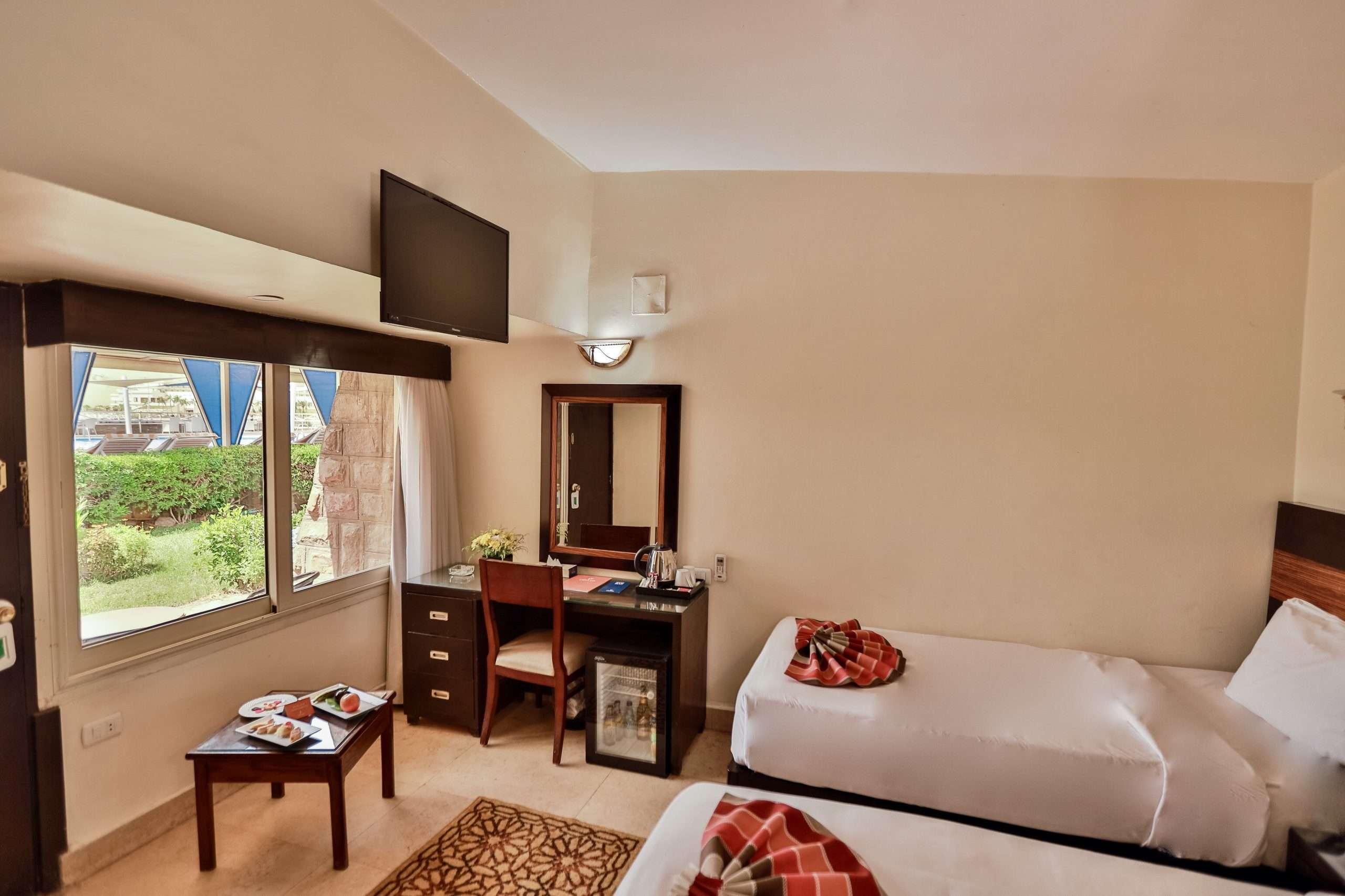 Pool View Room at Obelisk Nile Hotel in Aswan